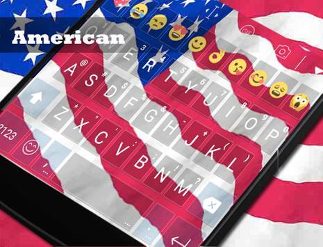 America Banner Emoji Keyboard apk screenshot