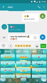 Bubble Star Eva Keyboard -Gif apk screenshot