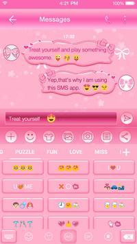 Lovely Pink Keyboard-Emoji Gif apk screenshot