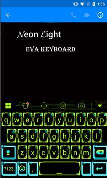 NeonLight Eva Keyboard -Gifs apk screenshot