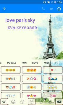 Paris Spring Blue Sky Keyboard apk screenshot