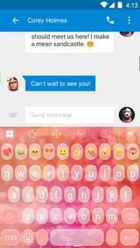 Bubble Emoji Keyboard Theme apk screenshot