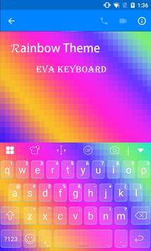 Rainbow Eva Keyboard -Diy Gifs apk screenshot