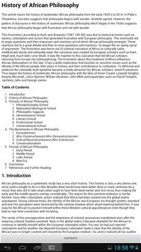 Encyclopedia of Philosophy apk screenshot