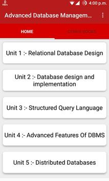 Advanced Database Management poster