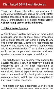 Advanced Database Management apk screenshot