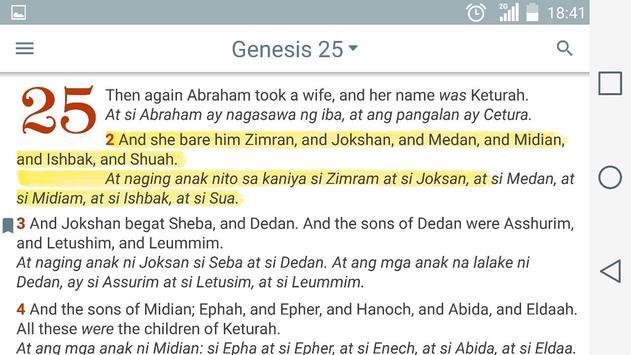 English Tagalog Bible apk screenshot
