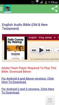 English Audio Bible poster