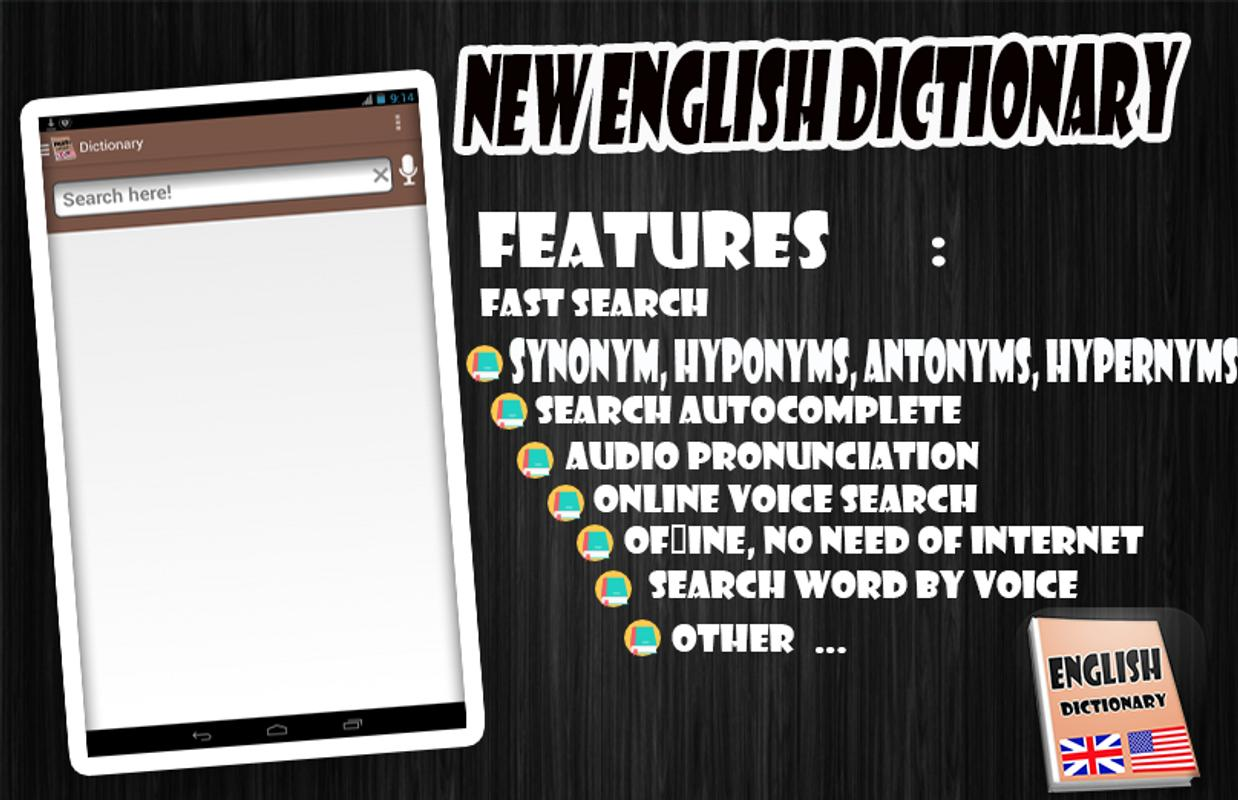 Phone English Dictionary For Android Phone new english dictionary apk download free books reference app poster