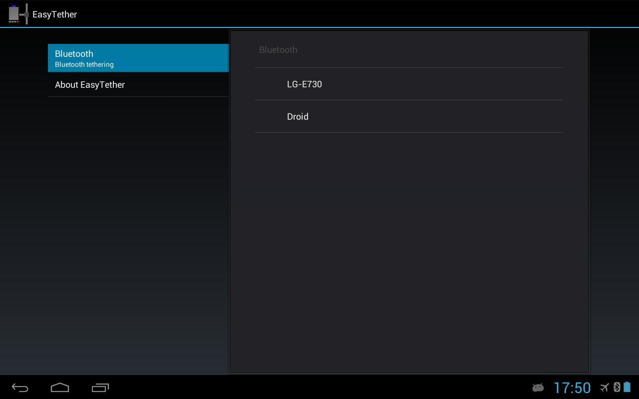 Easytether tablet apk download free communication app for App tablet android gratis