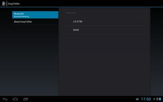 EasyTether Tablet apk screenshot