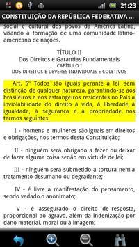 Constituição Brasileira GRÁTIS apk screenshot