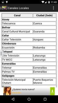 Televisiones de Ecuador apk screenshot