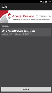 Annual Dialysis Conference poster