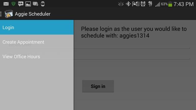 NCAT Aggie Scheduler apk screenshot