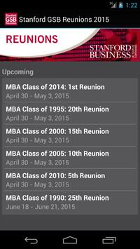 Stanford GSB Reunions 2015 poster