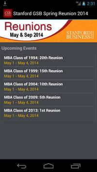 GSB Reunions poster