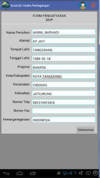 Perizinan Online apk screenshot