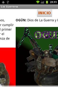 Attend the Guerreros and Orula apk screenshot