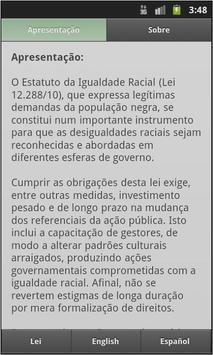 Estatuto da Igualdade Racial apk screenshot