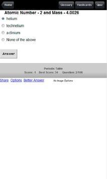 Periodic Table Flashcards,Quiz apk screenshot
