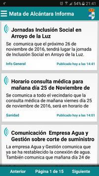 Mata de Alcántara Informa poster