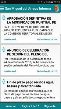 San Miguel del Arroyo Informa poster