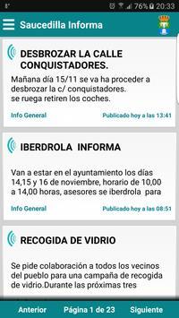 Saucedilla Informa poster