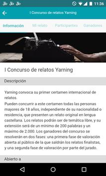 Yarning relatos apk screenshot