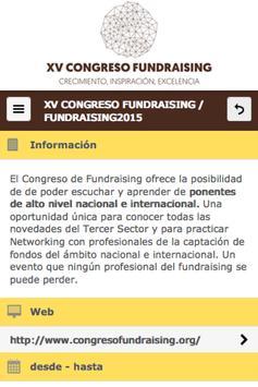 Congreso Fundraising 2015 apk screenshot