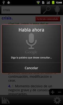 RAE Spanish Dictionary apk screenshot
