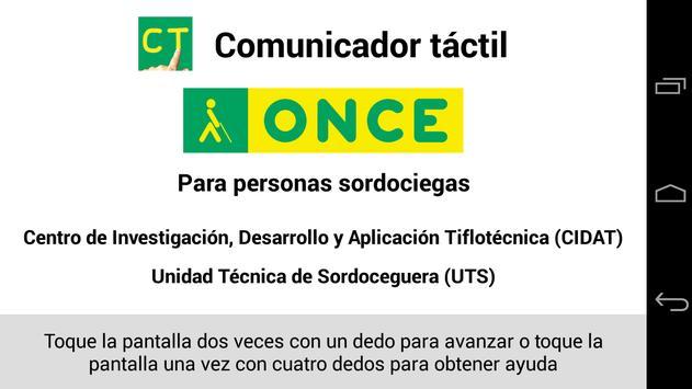Comunicador Táctil ONCE poster