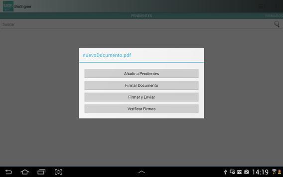 BioSigner apk screenshot