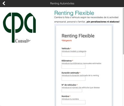 Renting Automóviles apk screenshot