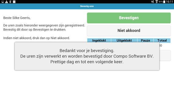 Compo Inklokken apk screenshot