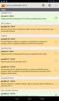 Daňový kalendář 2014 apk screenshot