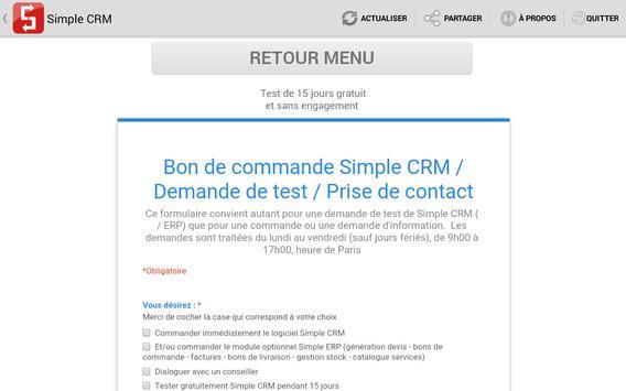 Simple CRM apk screenshot