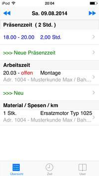 PocketTime apk screenshot