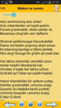 O'zbek she'riyati poster