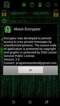 Message Encryption apk screenshot