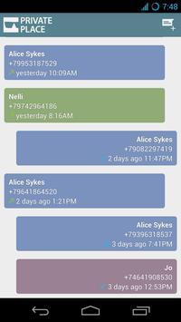 Private Place Secret SMS CALLS apk screenshot