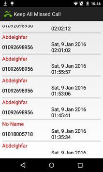 Keep All Missed Call apk screenshot