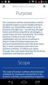 Nokia Code of Conduct apk screenshot