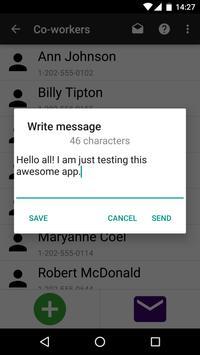 Group SMS Texter apk screenshot