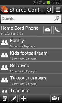 Shared Contact List apk screenshot