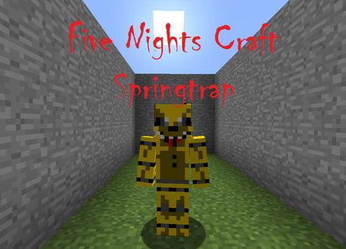 Five Nights Craft Springtrap poster