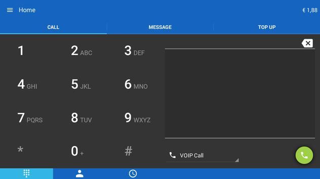 Jumblo - Mobile Sip calls apk screenshot