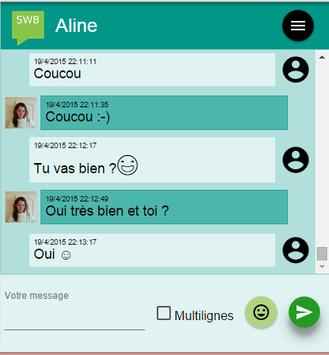 SWB : SMS by Web Browser apk screenshot
