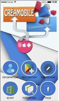 Créamobile communication poster