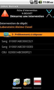 BIOTRACK Coursier apk screenshot